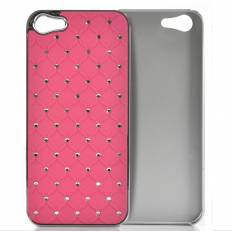 Coque iPhone 5 Rigide - Rose strass