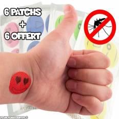 Lot 6 Autocollants Patch Anti Moustique + 6 Offert