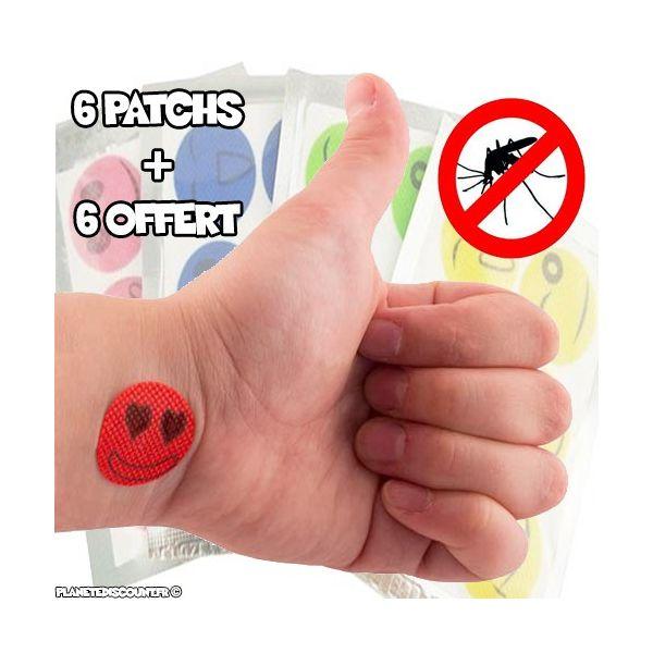 lot 6 autocollants patch anti moustique 6 offert au meilleur prix. Black Bedroom Furniture Sets. Home Design Ideas