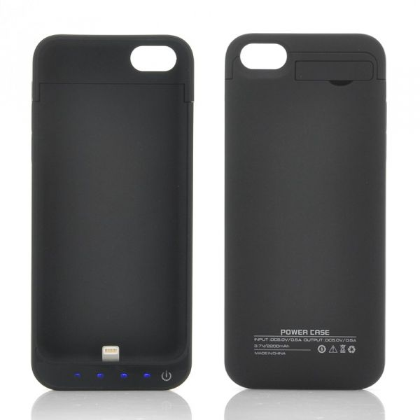 External Battery Case for iPhone 5/5C/5S - 2200mAh (Black)