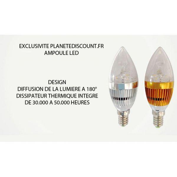Ampoule LED 9W, Blanc pure, froid et chaud