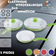 Lot Poêles Céramique Chef Pan Edition (5 pièces)