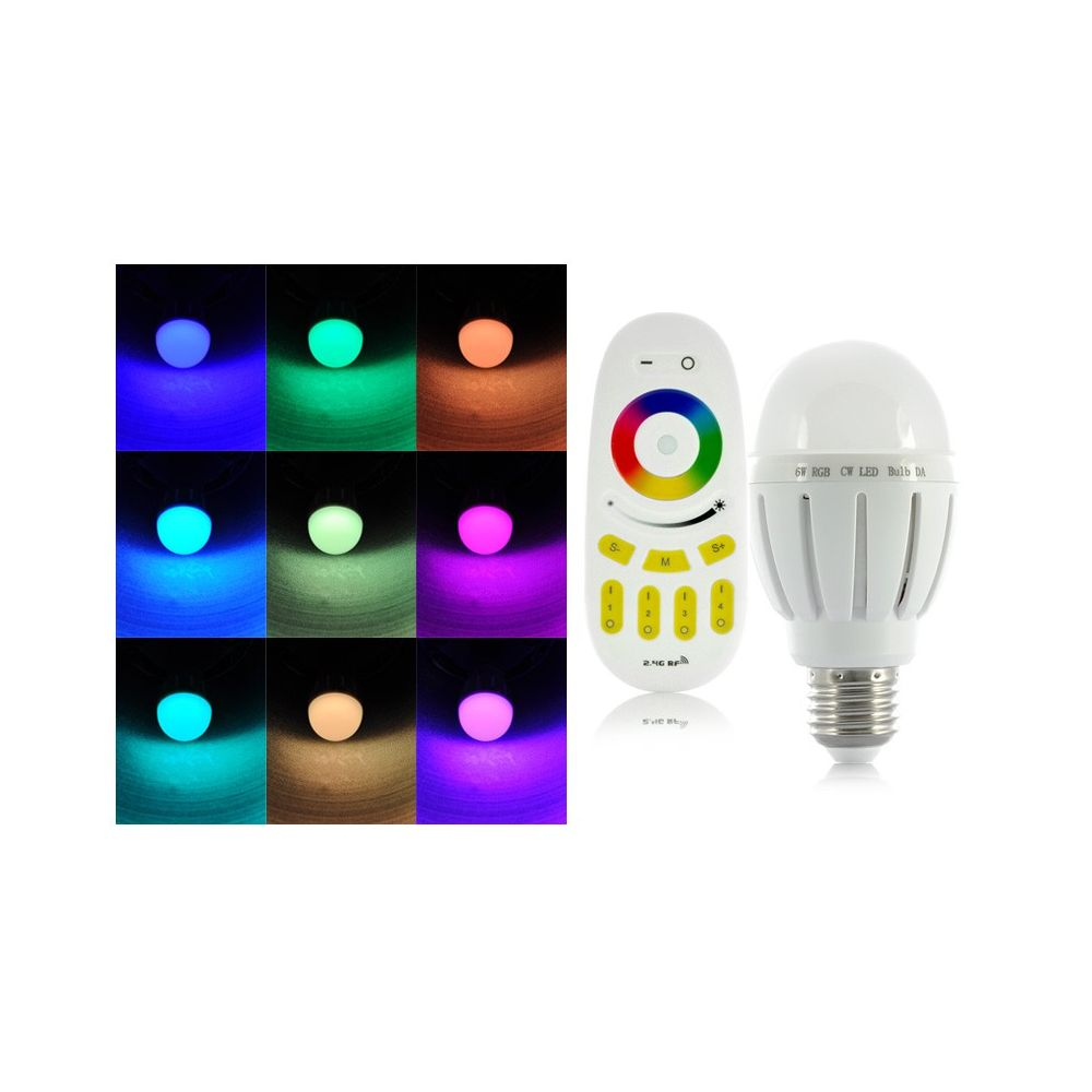 ampoule led pack ampoule led rgb 6w t l commande rf pas cher. Black Bedroom Furniture Sets. Home Design Ideas