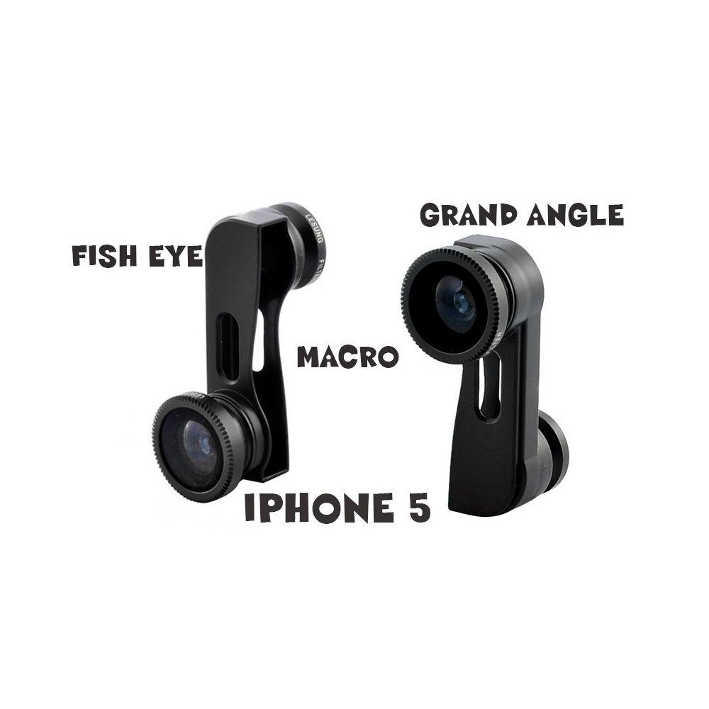 Kit 3-en-1 iPhone 5 Lentille Fish-Eye, Grand Angle, Macro. Kit 3-en-1 iPhone 5 Lentille Fish-Eye, Grand Angle, Macro