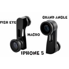 Kit 3-en-1 iPhone 5 Lentille Fish-Eye, Grand Angle, Macro