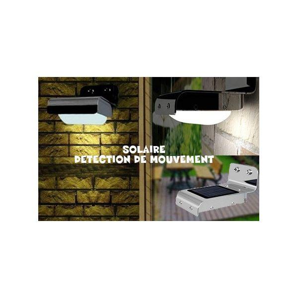 Lampe extérieure LED Solaire avec capteur de mouvement