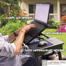 Support table portable multifonction LED pour ordinateur