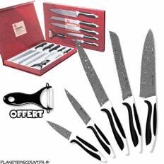 Pack Couteaux avec revêtement Pierre (6 Pièces)