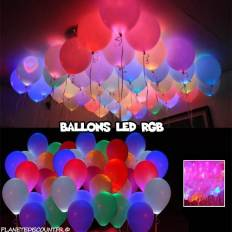 Ballons lumineux à LED multicolores x10