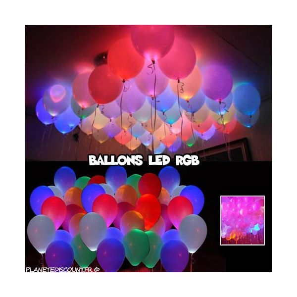 ballons led achat ballons led lumineux multicolores x10 rgb pas cher. Black Bedroom Furniture Sets. Home Design Ideas