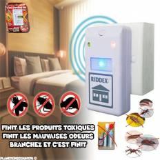 Répulsif Insectes et Rongeurs - électrique Riddex