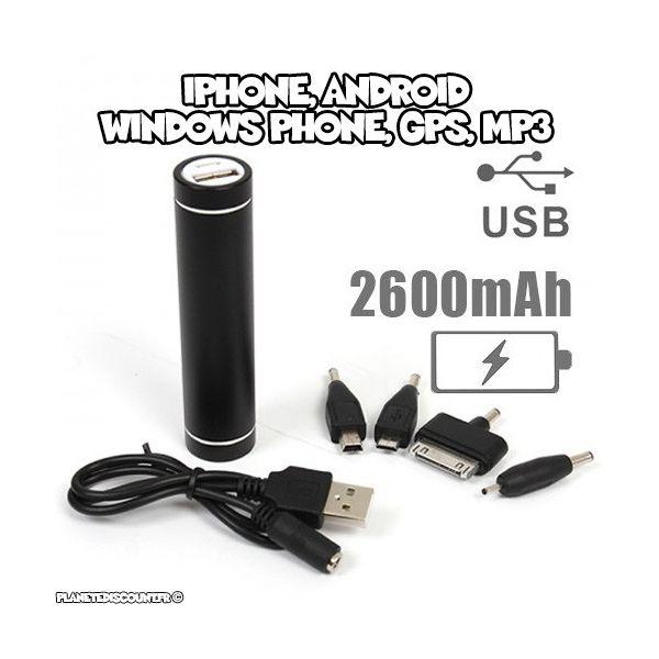 Chargeur batterie de secours USB iPhone, Android