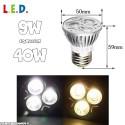 Ampoule LED Spot 9W culot E27