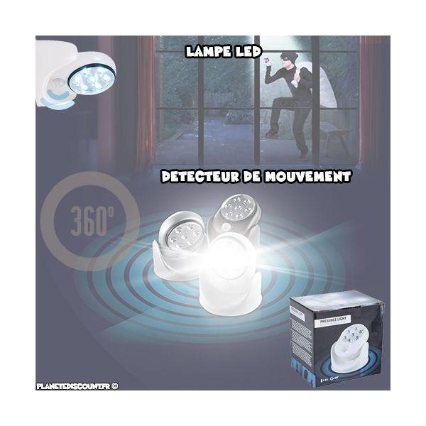 Lampe LED 360° avec Détecteur de Mouvement
