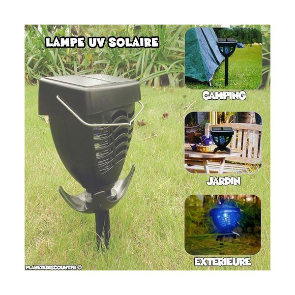 Lampe UV Anti Moustique et Insectes - Solaire