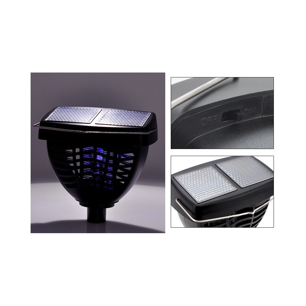 achat lampe uv solaire anti moustique et insectes pas cher. Black Bedroom Furniture Sets. Home Design Ideas