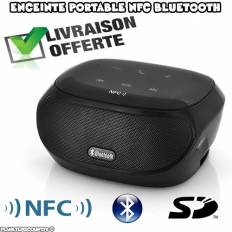 Enceinte NFC Bluetooth Portable Tactile Carte SD
