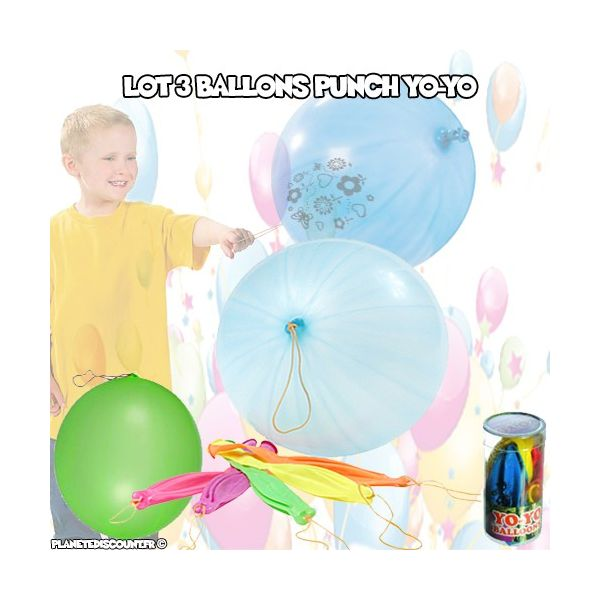 Ballons Géants Punch Yo-Yo (pack de 3)