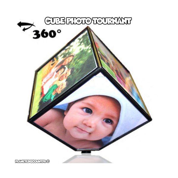Cube cadre photo tournant 360°