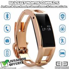 Bracelet montre connecté bluetooth - Sync SMS et contact, podomètre...