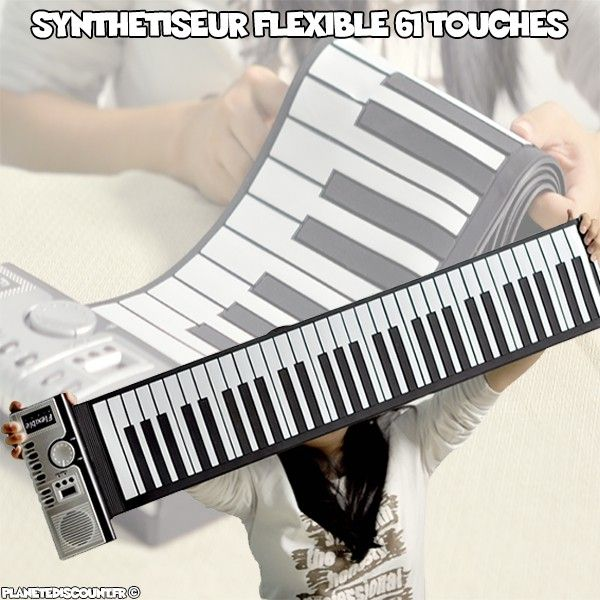 Synthétiseur flexible 61 touches programmables
