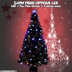 Sapin de Noël Full Fibre Optique avec 80 LED 120 cm