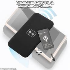 Kit Chargeur Téléphone Qi sans fil universel smartphone micro USB