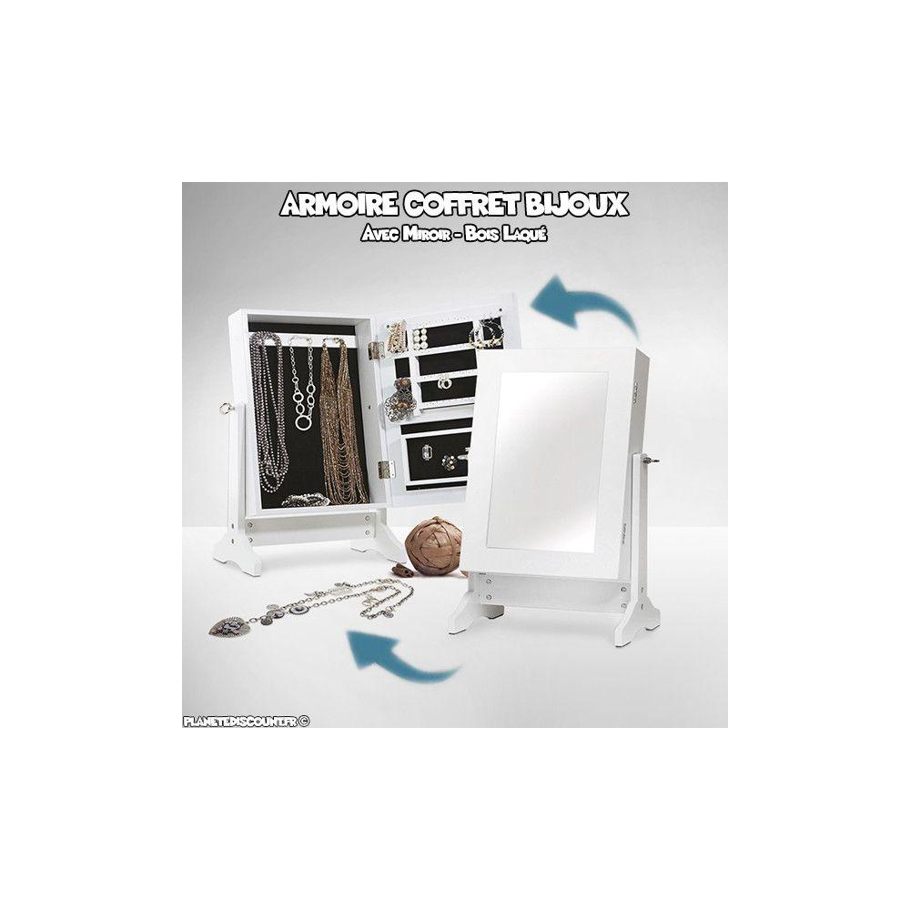 achat vente armoire coffret bijoux avec miroir pas cher. Black Bedroom Furniture Sets. Home Design Ideas