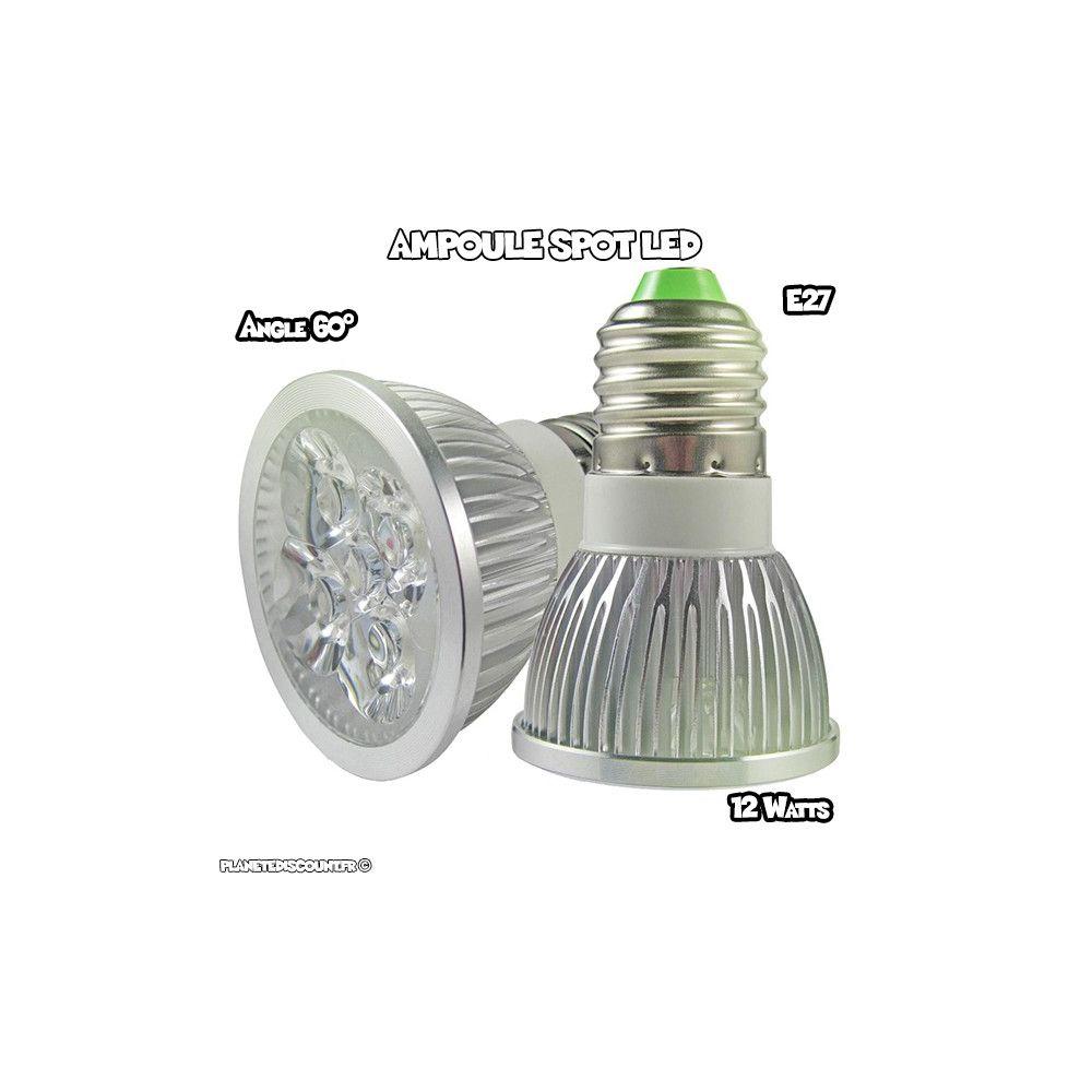 achat vente ampoule spot led e27 12w blanc froid pas cher. Black Bedroom Furniture Sets. Home Design Ideas