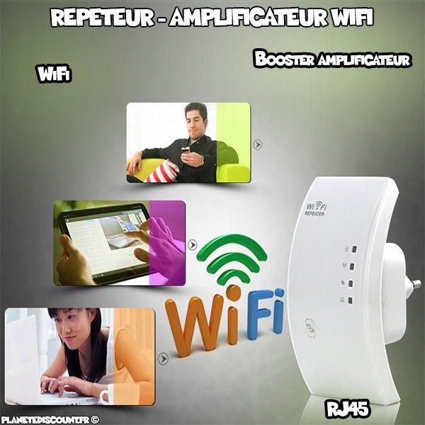 r p teur booster amplificateur signal sans fil wifi rj45 pas cher. Black Bedroom Furniture Sets. Home Design Ideas