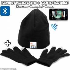 Ensemble Bonnet Bluetooth et gants tactiles