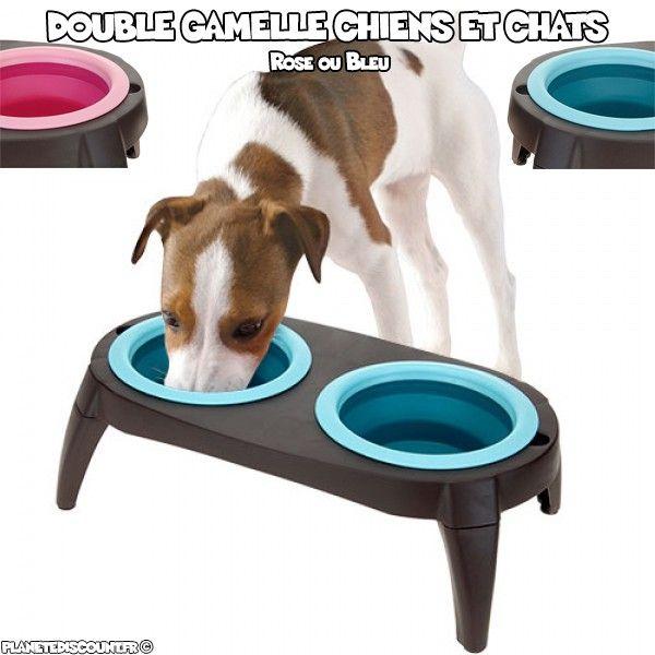 Double Gamelle pour chiens et chats