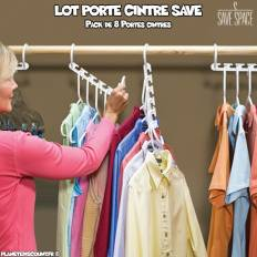 Porte Cintre Multiple Save (Pack de 8)