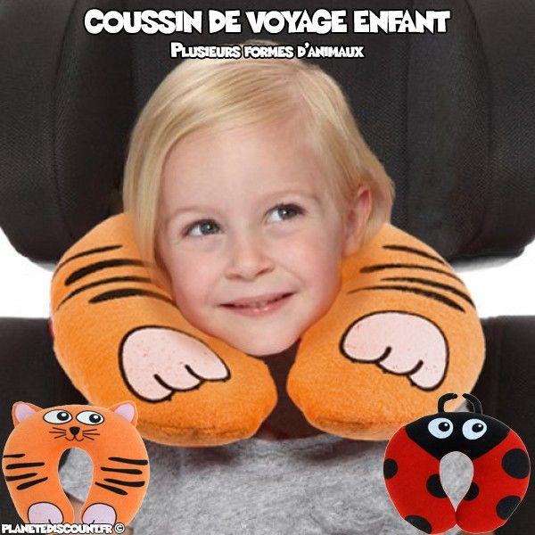 Coussin de voyage enfant animaux