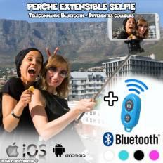 Perche extensible selfie Bluetooth avec télécommande