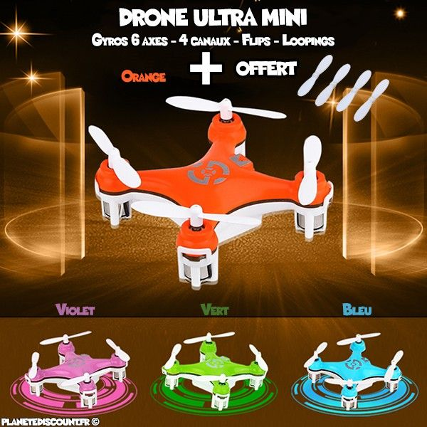 Drone Ultra mini CX-10 LED, 4 canaux, 6 axes, 2.4GHz