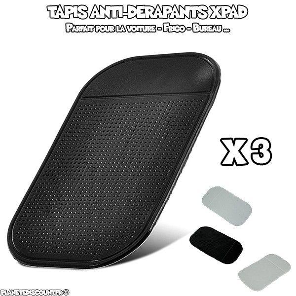Tapis antidérapants XPad pour voiture ou maison Lot x4