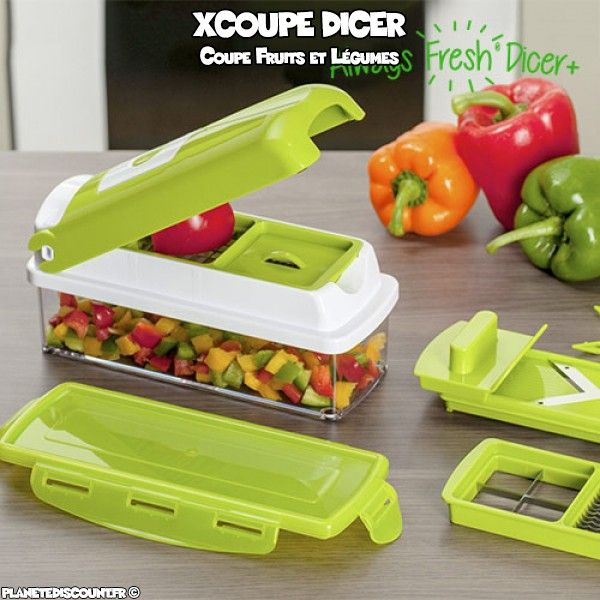 Xcoupe nicer dicer plus, coupe fruit & légume