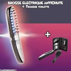 Brosse électrique antichute cheveux avec sacoche accessoires