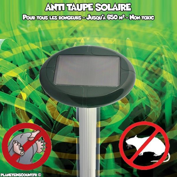 Anti taupe solaire ultrasons - Extérieur grand modèle