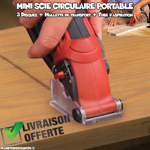 Mini scie circulaire portable PWR