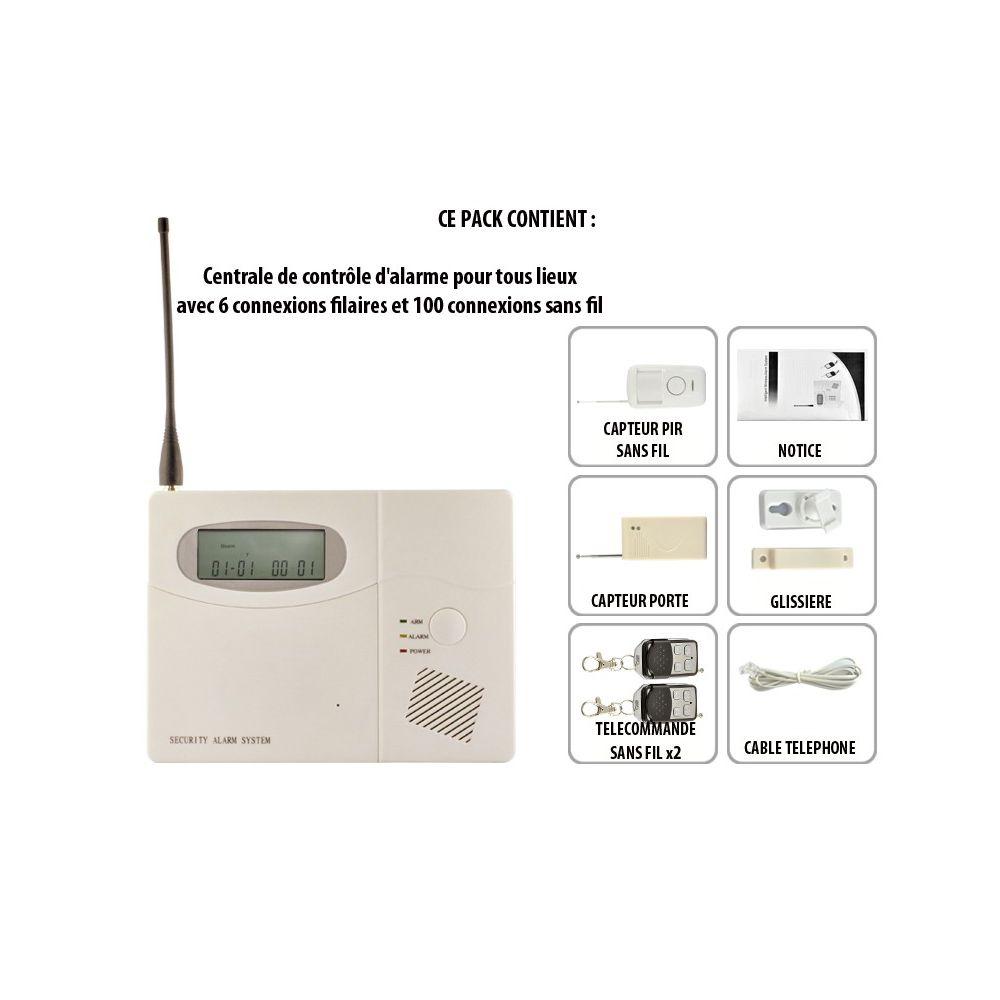centrale alarme achat centrale alarme maison et pro pas cher. Black Bedroom Furniture Sets. Home Design Ideas