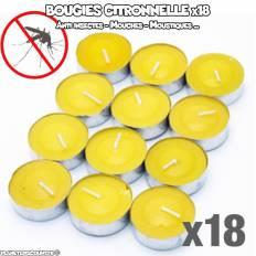 Bougies citronnelle anti moustiques x18