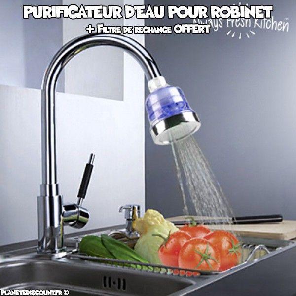 Filtre purificateur d'eau pour robinet