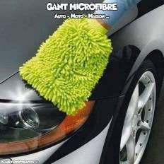 Gant microfibre pour voiture