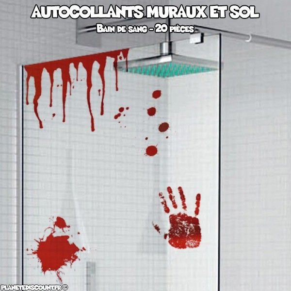 Autocollants muraux et sol - Bain de sang