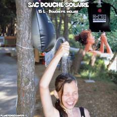 Sac douche solaire camping 15 L