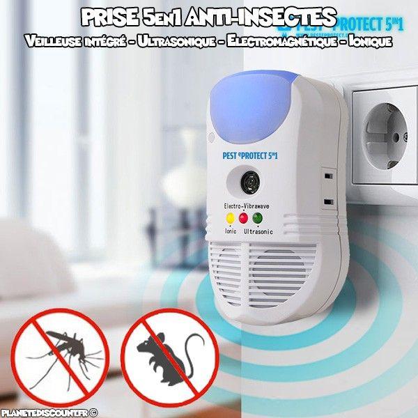 Prise anti-insectes 5-en-1