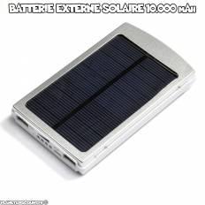 Batterie externe solaire 10.000 mAh, 2x USB