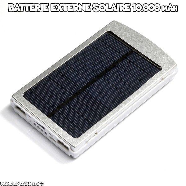 achat vente batterie externe solaire mah 2x usb pas cher. Black Bedroom Furniture Sets. Home Design Ideas